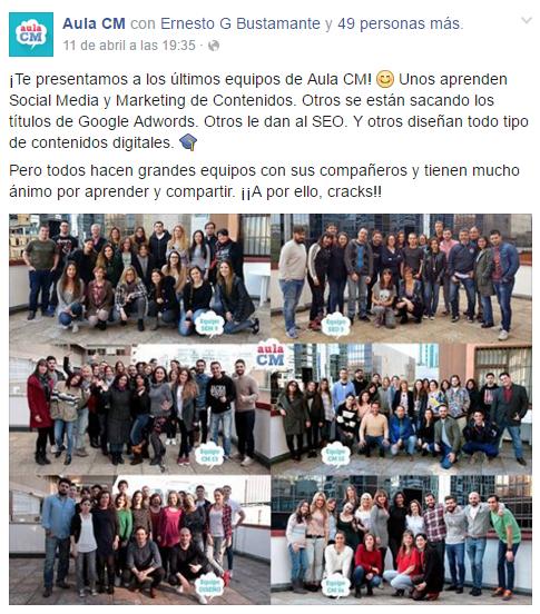 Alumnos curso community manager Aula CM